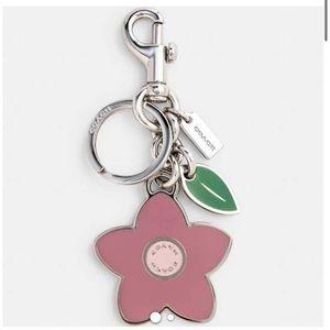 Coach Accessories - Coach Flat Wildflower Bag Charm - Sv/Rose